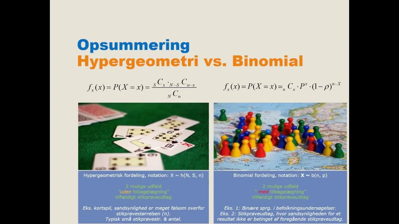Hypergeometrisk fordeling - Statistik med Michael René