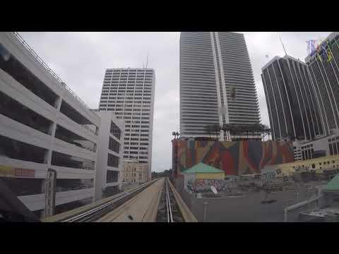 Passeio de Metromover por Downtown Miami Florida Estados Unidos