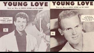 YOUNG LOVE - SONNY JAMES / TAB HUNTER (original) - stereo mixes