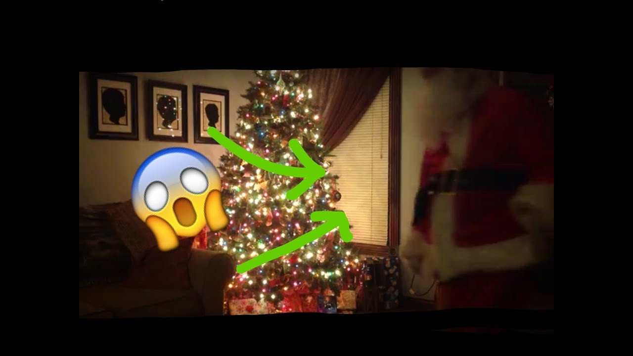 Santa Caught in my living room!!!!! - YouTube