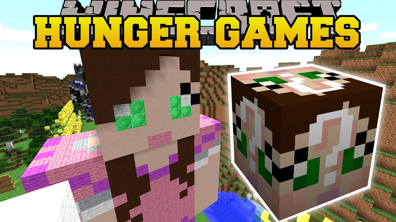 Minecraft gamingwithjen hunger games lucky block mod for Mine craft hunger games