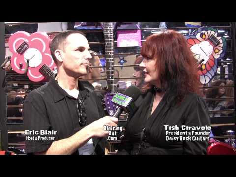 Daisy Rock Girl Guitars Tish Ciravolo talks w Eric Blair @ 2013 NAMM