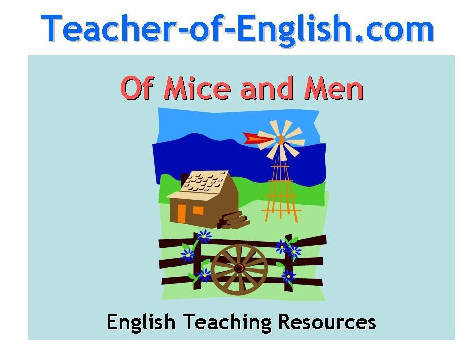 Of Mice and Men Teaching Resources Powerpoint and worksheets – Of Mice and Men Worksheet