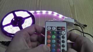 led rgb smd 5050 strip unboxing test
