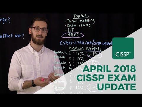CISSP April 2018 Exam Update Overview