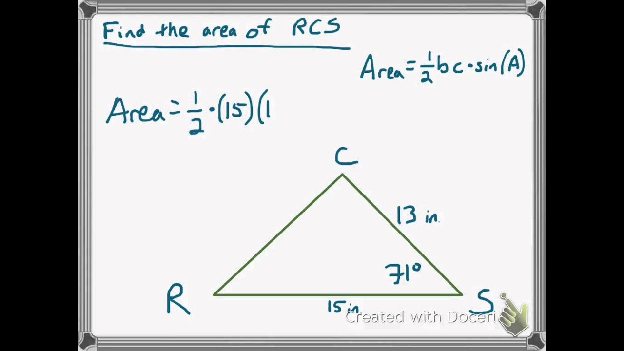 04  Example Of Finding Triangle Area Using Trig