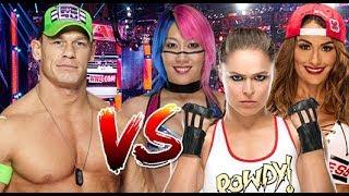 John Cena vs Ronda Rousey, Asuka and Nikki Bella