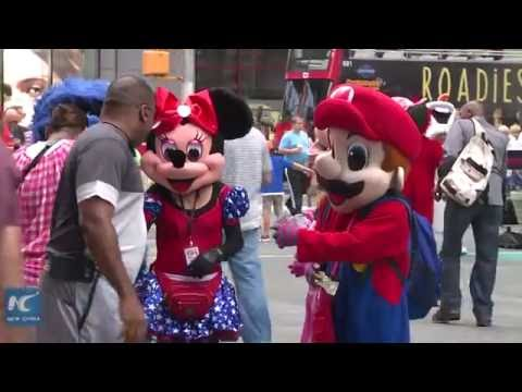 costumed characters tougher to make living in times square youtube