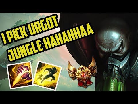 TEAMMATE PICKS URGOT JUNGLE IN MY PROMOS (classic Solo Q)- Ranked Journey 23 (League of Legends)