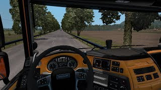 [1.34] Euro Truck Simulator 2 | DAF E6 Black Orange Interior | Mods