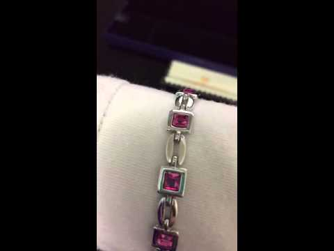 Amazon Jewelry Review: Mondaynoon Rose Austrian Crystal Tennis Bracelet