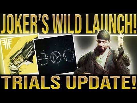 Destiny 2 News Update. TRIALS OF THE NINE UPDATE! Joker's Wild Launch, Content Update & More! thumbnail