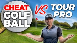 ILLEGAL golf ball only goes straight + cheating vs tour pro - WHO WINS
