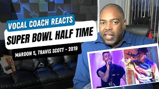 Download Vocal Coach Reacts to SUPER BOWL HALFTIME SHOW 2019 (Maroon 5, Travis Scott) Mp3