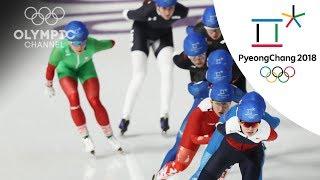 Laura Gómez, short of Speed Skating Mass Start final | Day 15 | Winter Olympics 2018 | PyeongChang