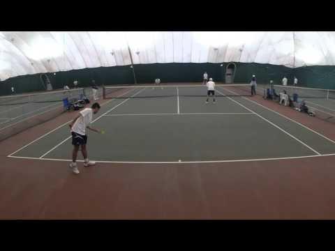 John Jay College vs Hunter College Men's Tennis #1 Doubles 2016