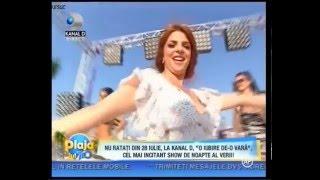 Laura Vass si Dan Bursuc la Kanal D - Plaja lui Teo (Emisiune TV)