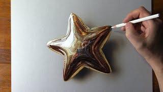 Golden Star Drawing