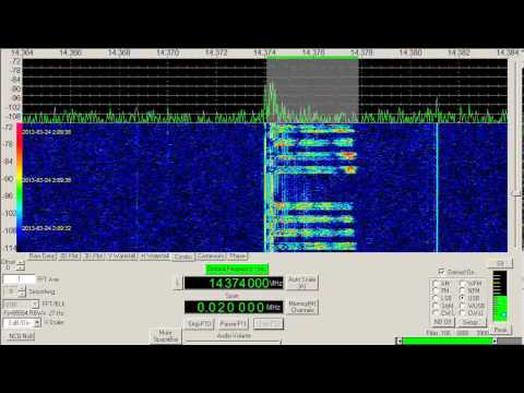 Numbers Station, Russian, Spanish language, V07, March 24, 2013, 0157 UTC, 14374 kHz, USB Mode