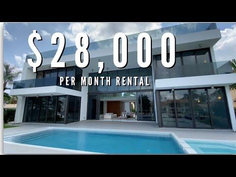 $28,000/MONTH RENTAL IN NORTH MIAMI BEACH, FL   Walk Through Tour   Luxury Home Tours: EP10