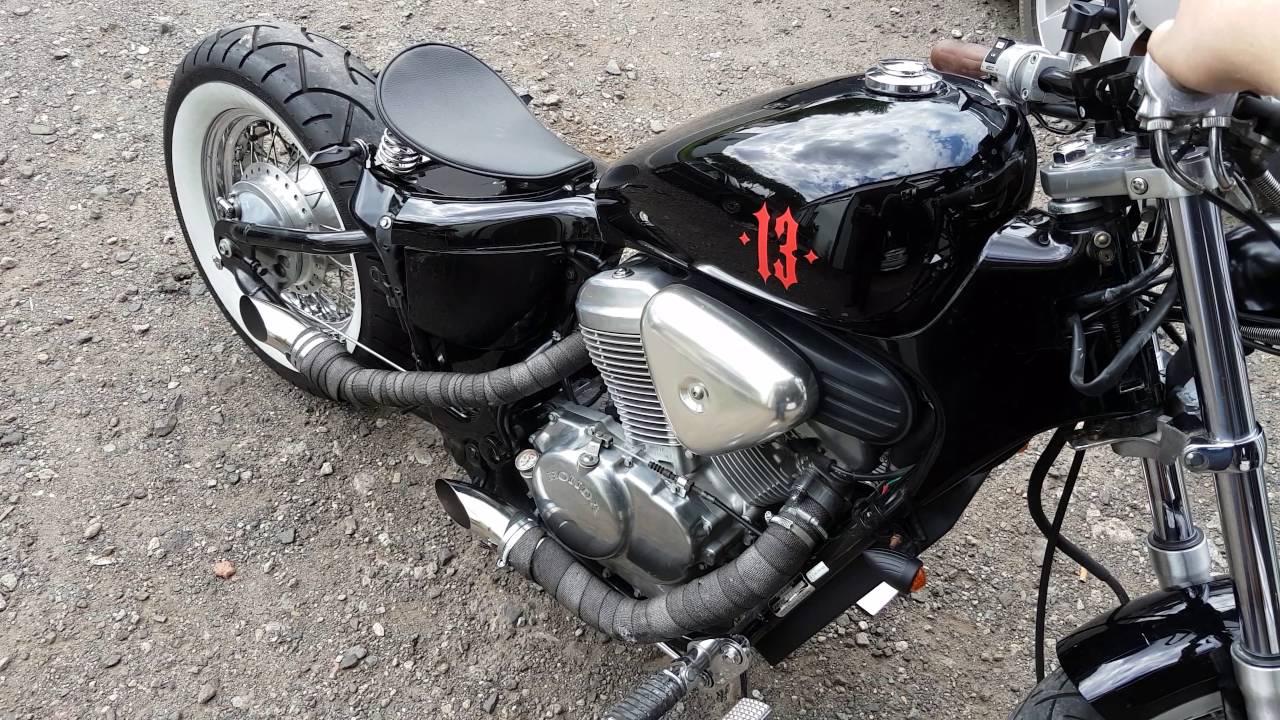 2016 Honda Rebel >> Honda VT600 Shadow custom Bobber Sound custom exhaust - YouTube