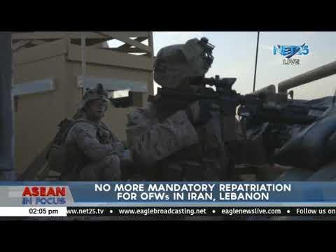 No more mandatory repatriation for OFWs in Iran, Lebanon
