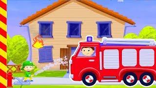 Пожарная машина мультфильм. Мультик про пожар. Про пожарную машину. Пожарные машинки для детей.