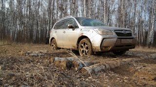 Разведка боем: Subaru Forester в роли танка на полигоне в невероятной грязи (из цикла Я и Авто)