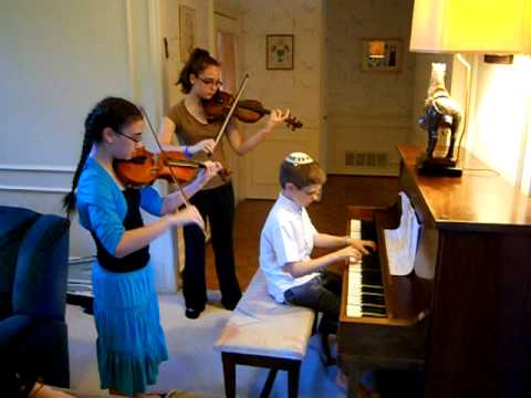 Hatikvah on piano and two violins