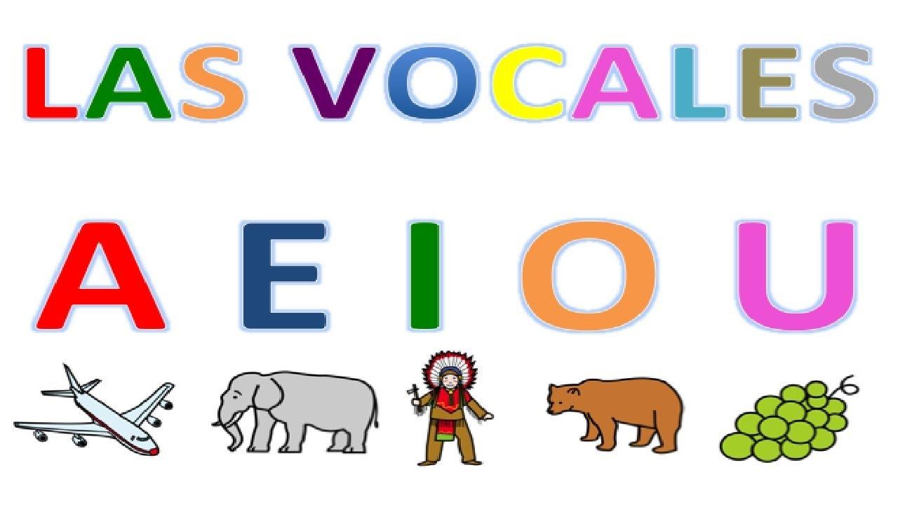 Poesia De Las Vocales: LAS VOCALES PARA NIÑOS Con Dibujos