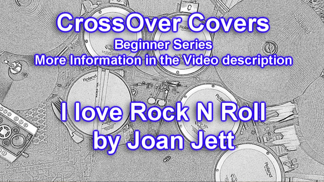 I Love Rock N Roll Drum Cover Joan Jett Drum Song For Beginner Series 96 Bpm Youtube