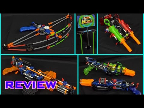 [REVIEW] K'NEX K-Force Foam Blasters | Bulk Review!