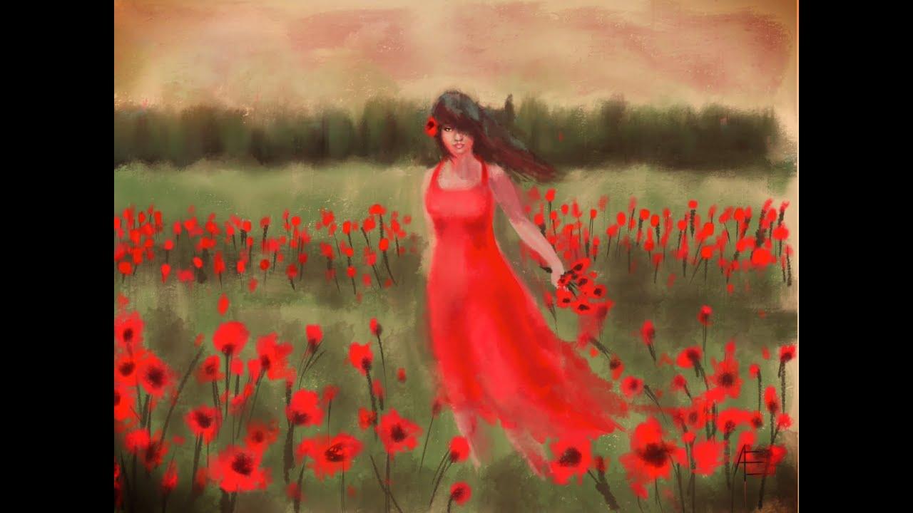 Girl in the poppy field speed painting ipad procreate youtube mightylinksfo Gallery