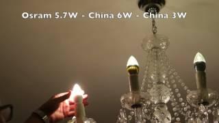 Osram E14 Led Candle Warm White 3 Pack Bulb