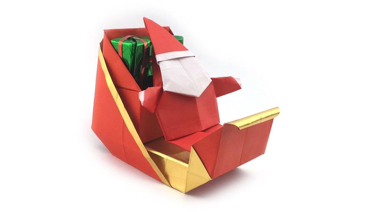 Easy Origami Santa Claus Instructions for Kids - Kids Can Make | 720x1280