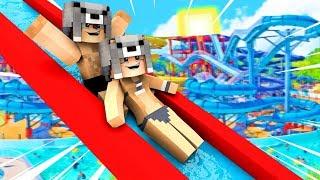 SEVGİLİMLE SU PARKINA GİTTİK! 😱 - Minecraft