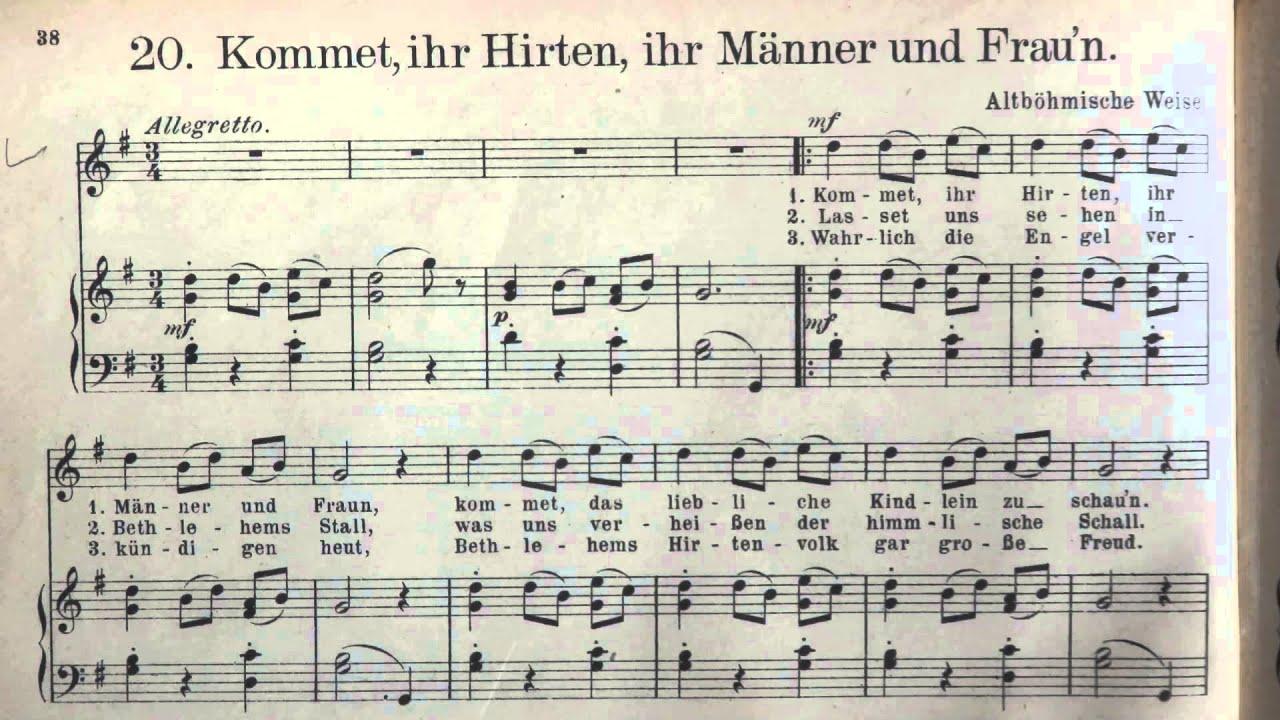 Weihnachtslieder Gesang.Weihnachtslieder Kommet Ihr Hirten Böhmisches Volkslied Gesang Solo