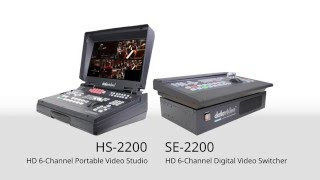 Datavideo HS-2200 HD/SD 6-Channel Portable Video Studio | SE-2200 HD/SD 6 CH Digital Video Switcher