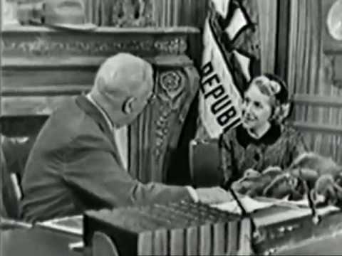 VINTAGE 1952 COMEDY SKIT - GRACIE ALLEN & FUTURE-TO-BE SUPREME COURT CHIEF JUSTICE EARL WARREN