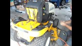 removing the fuel tank on a cub cadet 1554 pt1