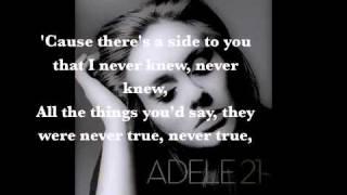 Adele - Set Fire to the Rain ( Lyrics on screen )