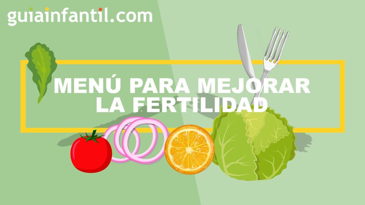 Menú para mejorar la fertilidad en la mujer y en el hombre  🍏 Qué comer para quedarte embarazada
