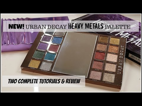 NEW Urban Decay Heavy Metals Palette   Tutorials and Review