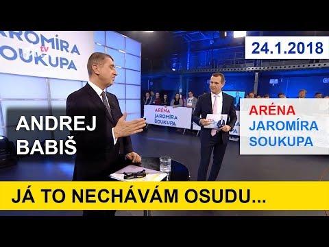 Premiér Andrej Babiš v Aréně J.S. k podpoře Miloše Zemana. 24.1.2018