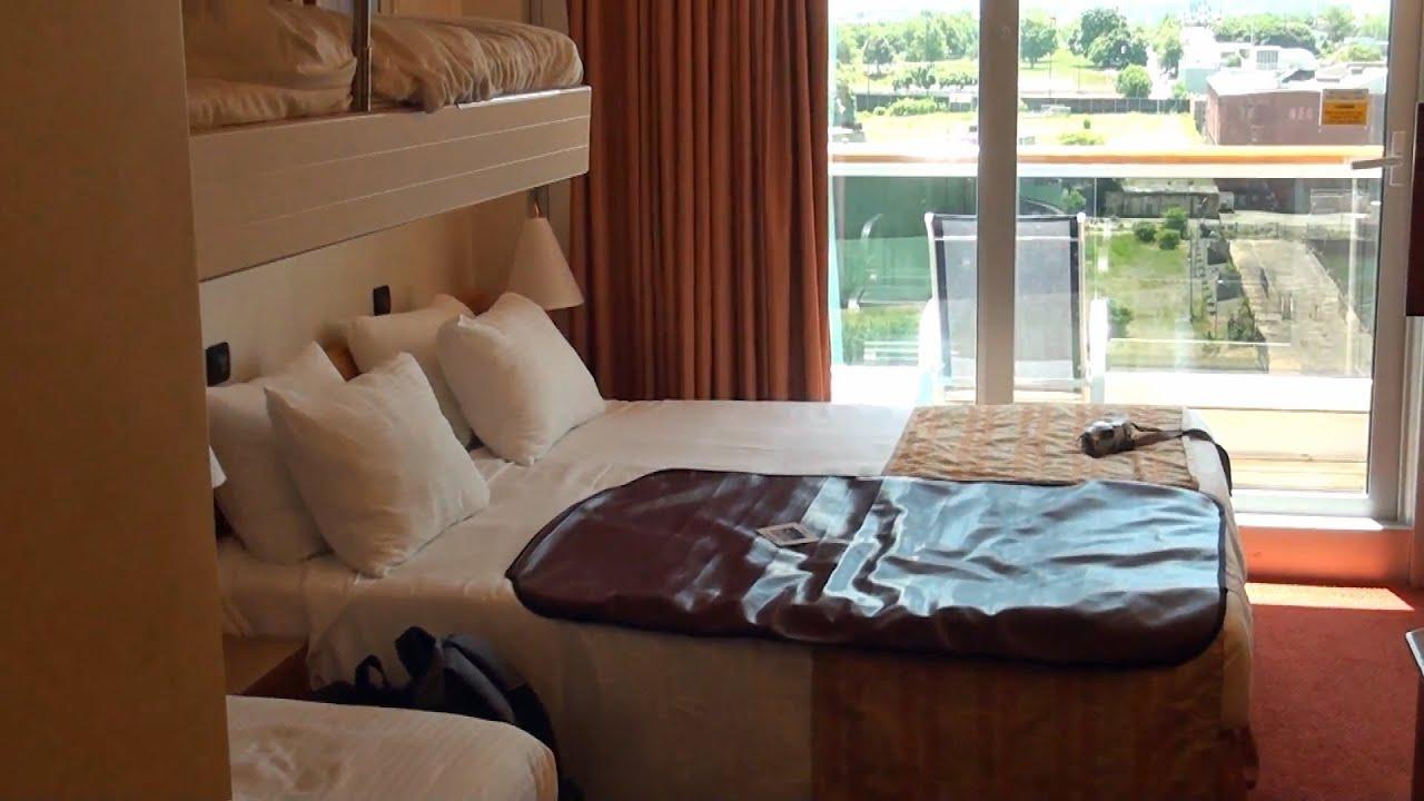 Carnival Glory Stateroom 1102 Spa Deck Balcony - YouTube
