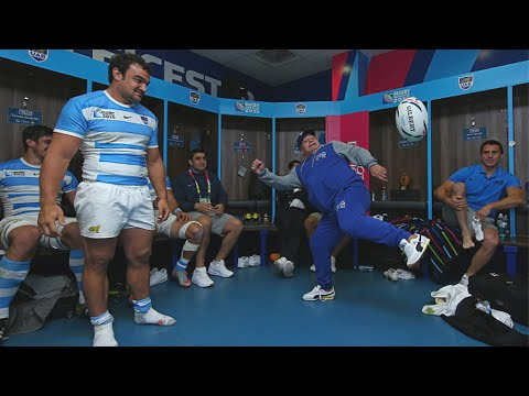Maradona's wild reactions during Argentina v Tonga