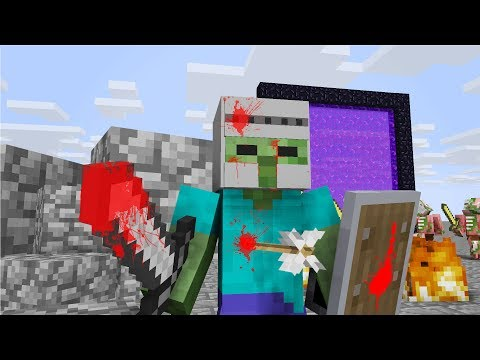 ALL BEST MINECRAFT LIFE - Herobrine, Zombie, Wolf And Skeleton Animations