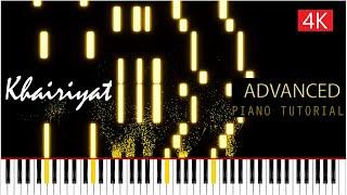 Khairiyat - Piano Tutorial (Advanced)   Chhichhore   Sushant Singh Rajput   Arijit Singh