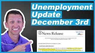 Unemployment update december 3rd 2020