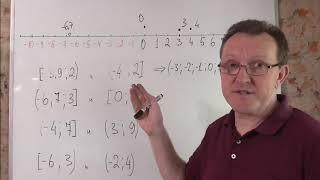 Отрезок, полуинтевал и интервал на числовой прямой. Задачки